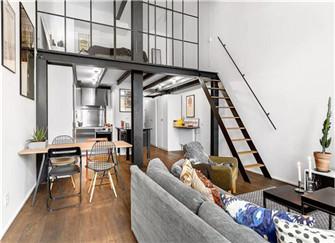 安庆loft公寓装修效果图 82平米清新北欧风婚房装修