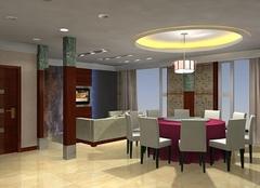 涿州鸿坤理想湾小区三室两厅装修效果图