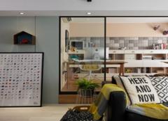 曲靖90平米三室一厅北欧风装修案例赏析