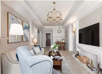 107平米新房装修案例 美式风格的三居室装修设计