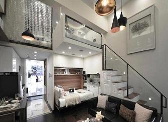 淮安复式装修多少钱 淮安挑高复式公寓装修图
