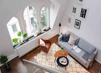 连云港恒大名都北欧小复式新房装修设计案例