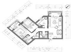65平米小户型简单装修多少钱 65㎡两室一厅简装4万成品图