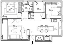 92平米装修多少钱 92平方小三房装修图