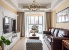 临沭130㎡两居室美式风格装修案例