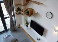 郑州47平挑高loft单身公寓北欧风格装修案例