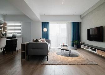桐乡开心公寓105㎡混搭风装修案例