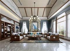 杭州豪宅装修设计公司 杭州豪宅别墅中式装修效果图