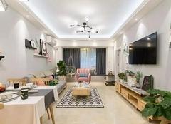 合肥财富广场装修设计效果图 95平米小三室简洁不失温馨