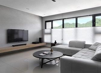 中山95平三居室装修设计效果图