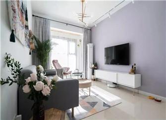 80平两室两厅毛坯房装修效果图 全包9万的清新北欧风