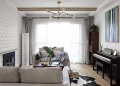 桐乡120平米北欧风装修效果图 空间具有质感且清新