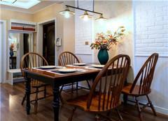 达州江湾城装修76平米二居室轻美式装修案例