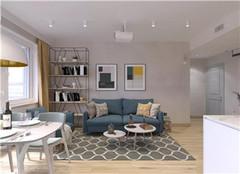 宝应90平米装修设计案例 现代简约风的三室一厅装修