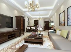 武清金泰丽舍装修案例 96平米两室两厅新中式装修