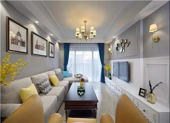 113平米房子装修案例 舒适温馨的现代美式装修设计