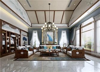 昆明别墅装修效果图 她家200平中式别墅装修很禅意
