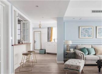 青岛120平米二手房现代美式风格装修设计