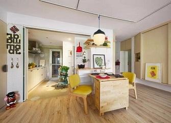 台州93㎡旧房改造装修效果图 现代宜家风舒适自然
