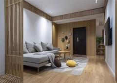 珠海100㎡新房日式风装修案例 简洁轻松自然