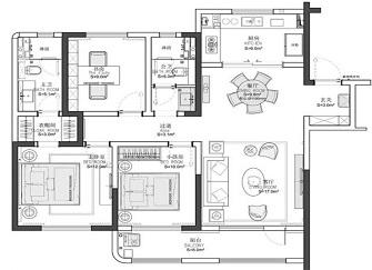 厦门建发央玺好不好 116平米三室两厅装修图