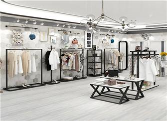 西安服装店装修设计价格 西安服装店装修货架哪里买