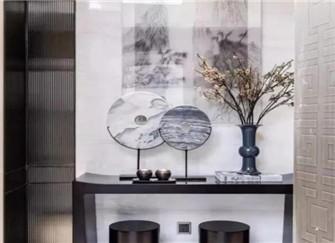 家装玄关设计技巧 中式玄关设计效果图