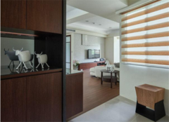 北京两居室装修样板房 她家70平简约温馨又大气