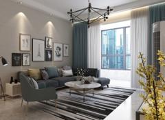 文山120平米三居室现代简约装修.