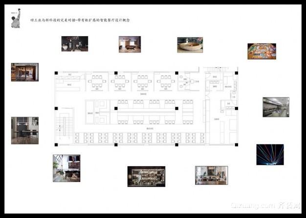 智能餐厅现代简约装修效果图实景图