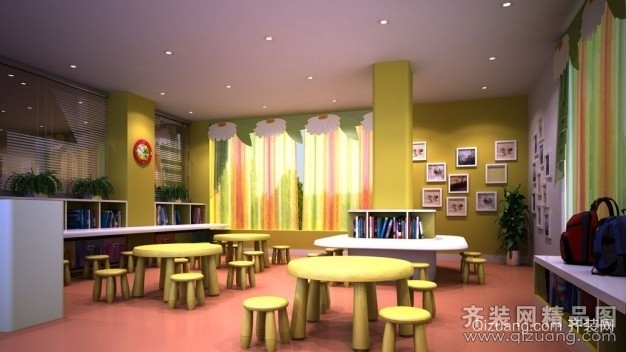 某学校现代简约装修效果图实景图
