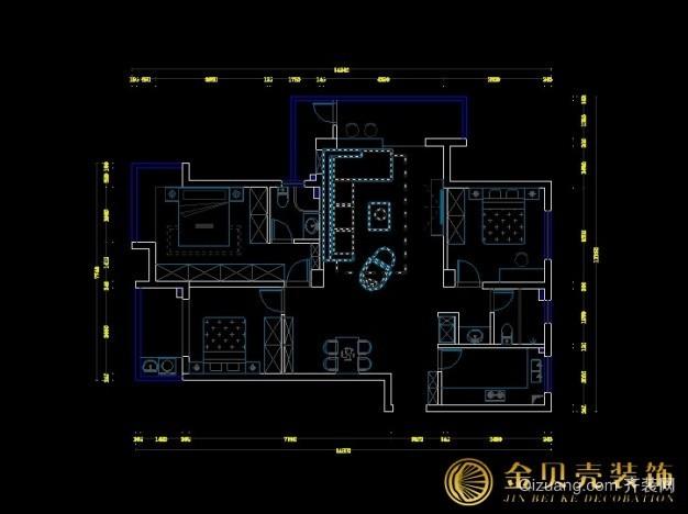 连云港市河畔花城框架结构平面图