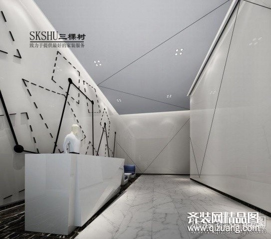星汇天地无锡智尚科技有限公司现代简约装修效果图实景图