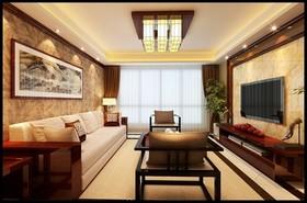青岛装修公司[常青藤]-130平3居室 清雅的东方韵味新中式