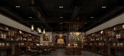 温州茶楼装修装修设计案例