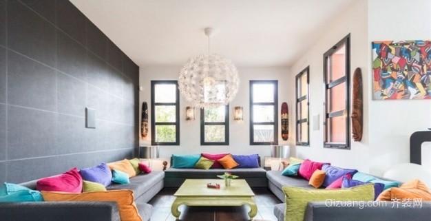 阁楼通顶窗的设计现代简约装修效果图实景图