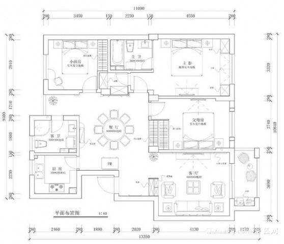 西溪花园芦雪苑5-2-901现代简约装修效果图实景图