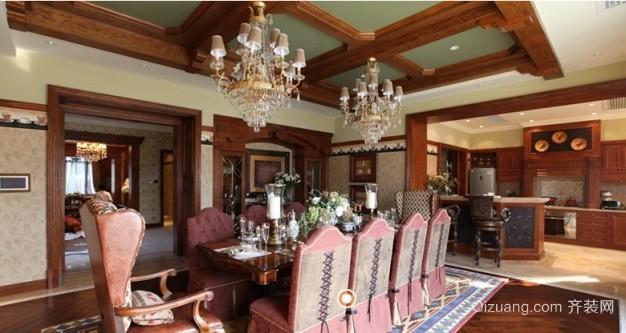 万科惠斯勒小镇独栋别墅美式风格装修效果图实景图