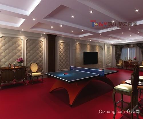 乒乓球社美式风格装修效果图实景图