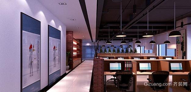 办公室1现代简约装修效果图实景图
