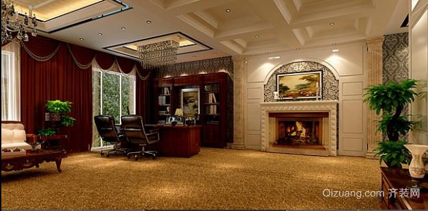 办公室2古典风格装修效果图实景图