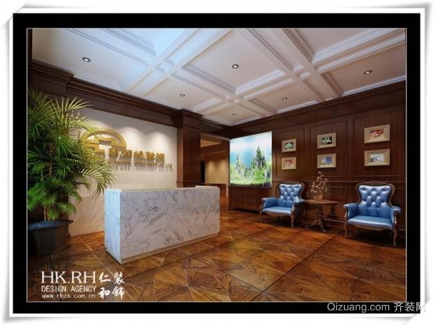 城投大厦802明润找投资美式风格装修效果图实景图