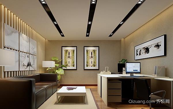 办公室2中式风格装修效果图实景图