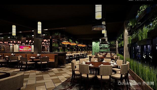 饭店现代简约装修效果图实景图