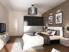 现代简约-柏丽甜果-一居室-55平米-装修设计