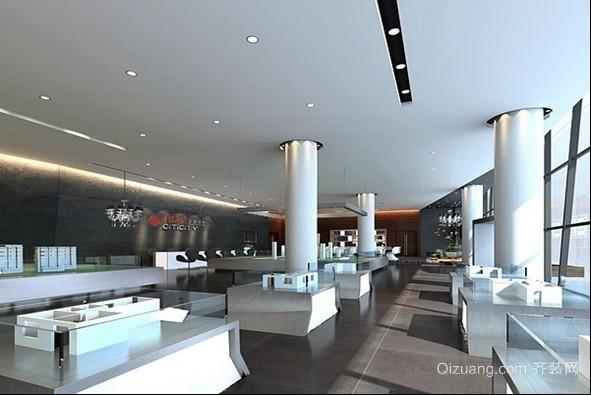 房地产售楼处现代简约装修效果图实景图