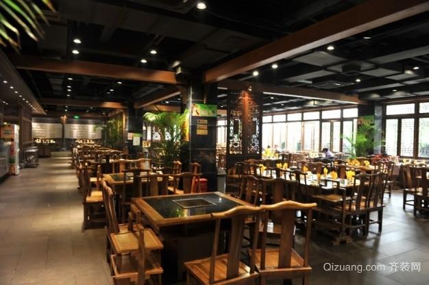中式古典餐厅现代简约装修效果图实景图