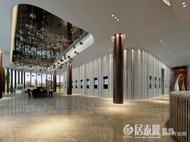 浦东 临港售楼处现代简约装修效果图实景图