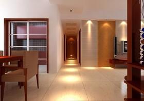 南昌实创整体家装-巨城广场金山街新中式空间设计效果