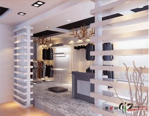 服装店现代简约装修效果图实景图